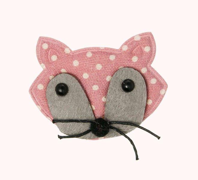 Clip picopato siena zorrito textil acolchado topitos rosa