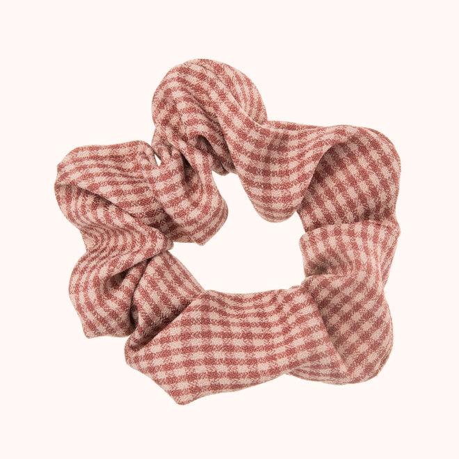 colección siena complementos niña invierno 2020 coletero tela de cuadros rosa