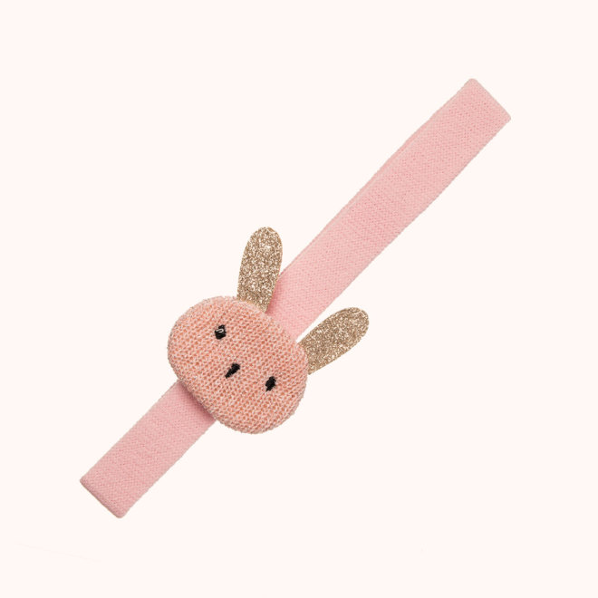 colección siena complementos niña invierno 2020 turbante conejito glitter rosa
