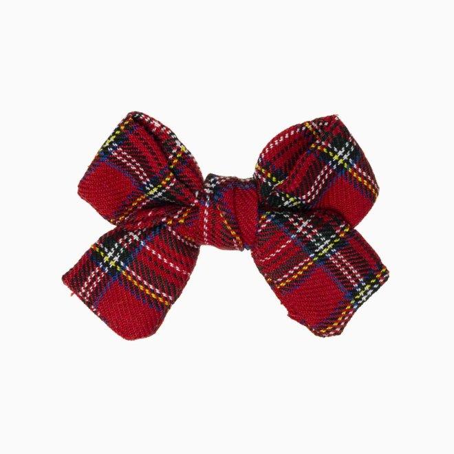 Lacito tela escocesa rojo para el pelo cosido en España